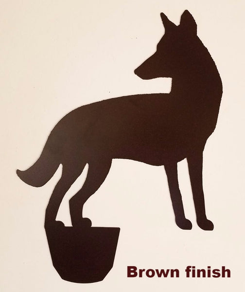 Coyote Garden Art. Metal Coyote yard art. Coyote Lawn Art. Coyote yard art silhouette