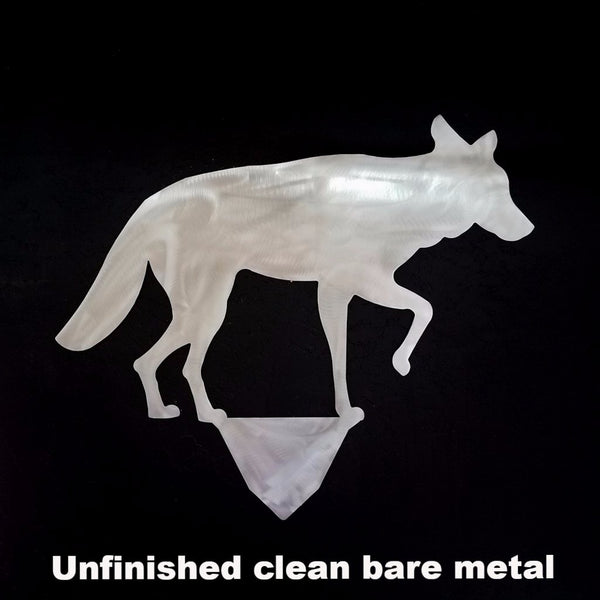 Coyote metal Lawn Art. Coyote Wildlife yard art. Metal Coyote Lawn and Yard Decor