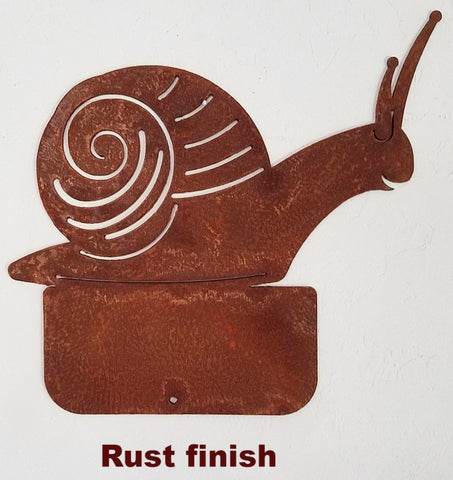 Snail metal Yard and Garden Art. Garden Snail metal Lawn art