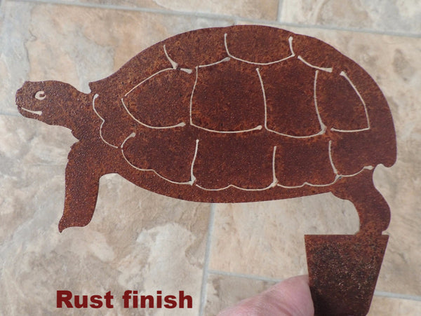Turtle metal garden art.  Desert tortoise metal yard art