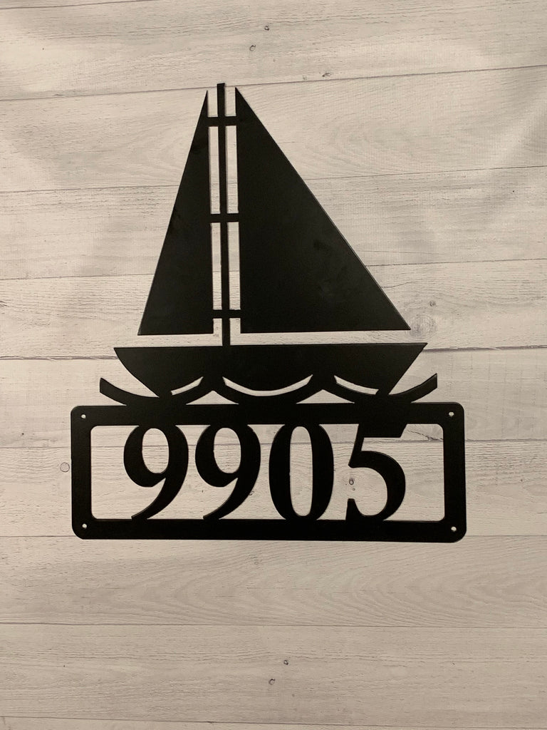 HN35a Sailboat House Number