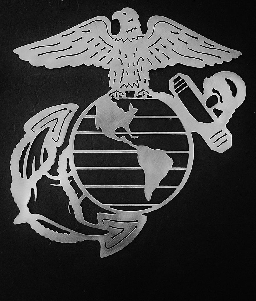 Marine Corps metal wall art