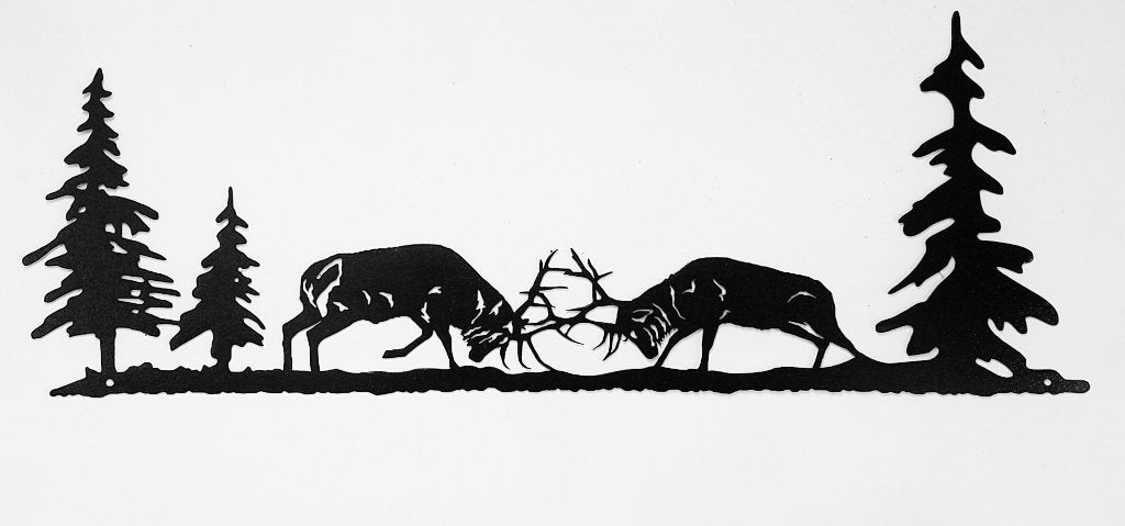 Elk metal wall art silhouette