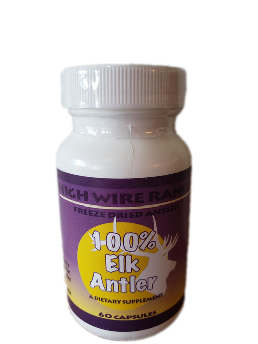 High Wire Ranch 100% Elk Velvet Antler Supplement (Local Colorado Product) - Supplement - Hardin's Natural Foods