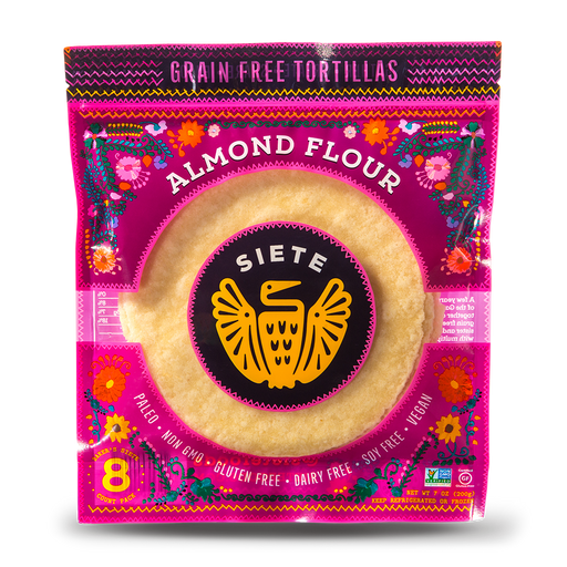 Siete - Almond Flour Tortillas - 8 per Bag - Frozen - Hardin's Natural Foods