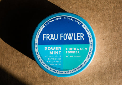 Frau Fowler - Power Mint - Tooth Powder - 2.03 oz Tin - Body Care - Hardin's Natural Foods