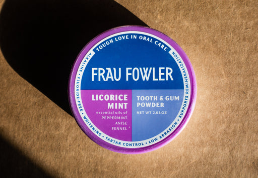 Frau Fowler - Highlander Licorice - Tooth Powder - 2.03 oz Tin - Body Care - Hardin's Natural Foods
