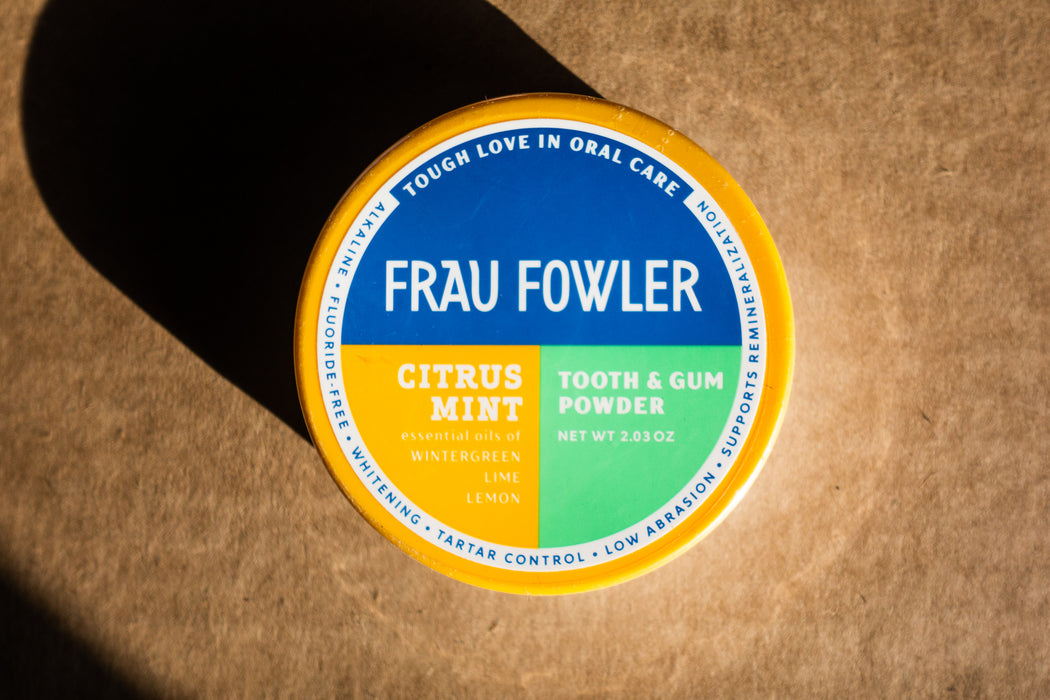 Frau Fowler - Citrus Samurai Mint - Tooth Powder - 2.03 oz Tin - Body Care - Hardin's Natural Foods