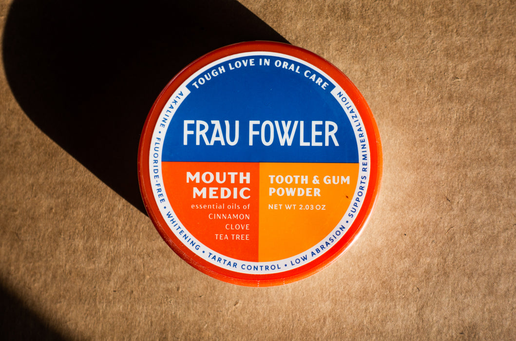 Frau Fowler - Mouth Medic (Cinnamon & Clove) - Tooth Powder - 2.03 oz Tin - Body Care - Hardin's Natural Foods