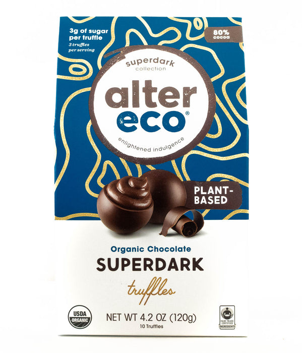 Alter Eco - Organic Dark Chocolate Superdark 80% Truffles (Plant Based) - 1 Pack
