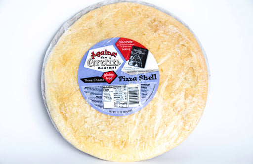 "Against the Grain Gourmet - 12"" Three Cheese Pizza Crust - 1 Shell - Gluten Free & Paleo - Frozen - Hardin's Natural Foods"