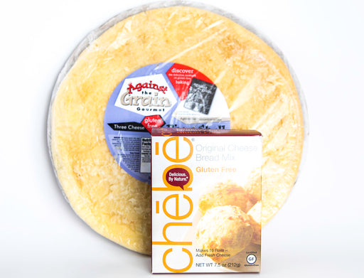 Paleo & Gluten Free Bread Variety Pack - Against the Grain Pizza Shell & Delicious by Nature Chebe