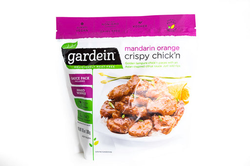 Gardein - Mandarin Orange Crispy Chick'n - Vegan Meat/Chicken Substitute - Case of 8 10.5oz Bags