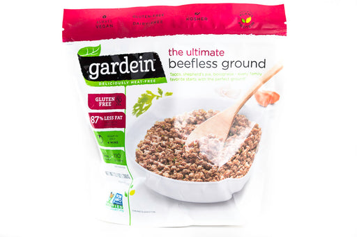 Gardein - Groundless Beef - Vegan Meat Substitute - Case of 8 13.7oz Bags - Frozen - Hardin's Natural Foods