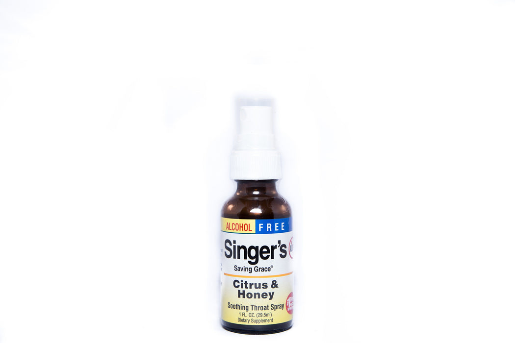 Herbs, Etc. - Singer's Saving Grace - Citrus Honey Alcohol Free 1oz - Supplement - Hardin's Natural Foods