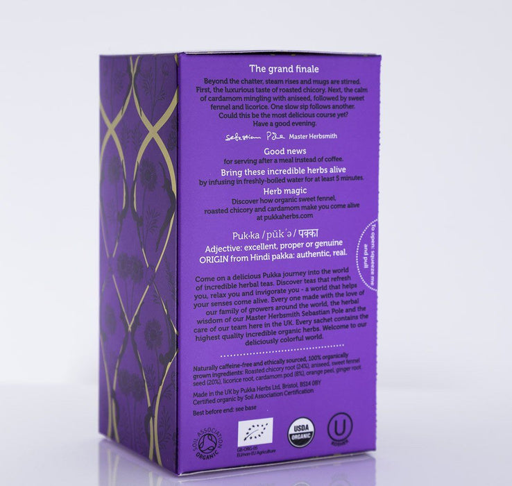 Pukka Herbs - After Dinner Tea Blend - 1 Box of 20 Bags - Tea - Hardin's Natural Foods