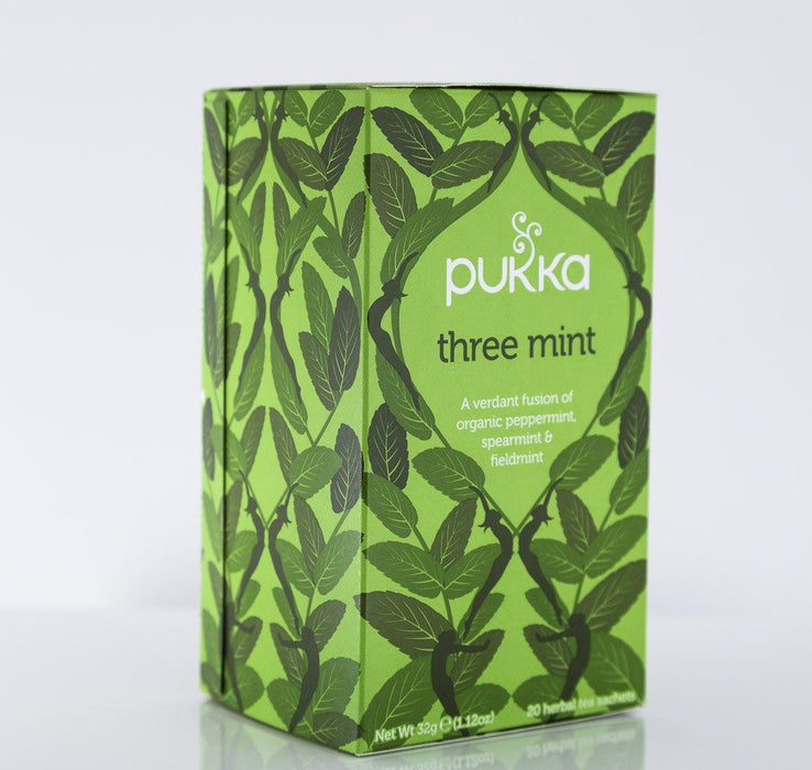 Pukka Herbs - Three Mint Tea Blend - 1 Box of 20 Bags - Tea - Hardin's Natural Foods
