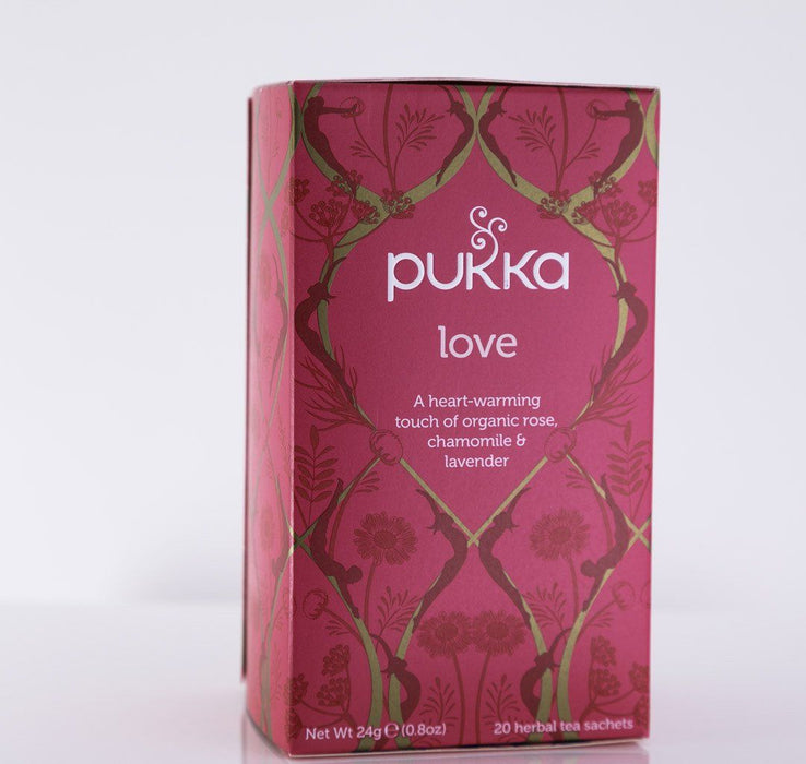 Pukka Herbs - Love Tea Blend - 1 Box of 20 Bags - Tea - Hardin's Natural Foods