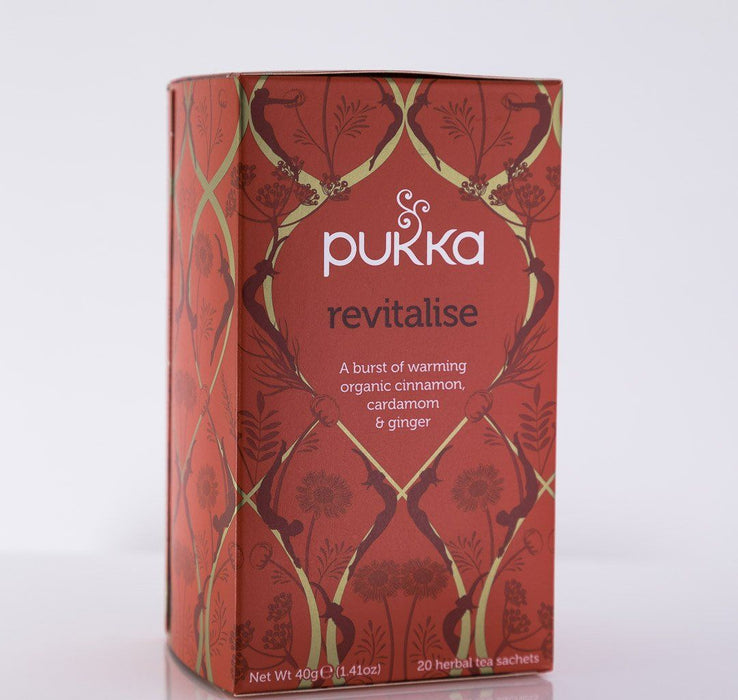 Pukka Herbs - Revitalise Tea Blend - 1 Box of 20 Bags - Tea - Hardin's Natural Foods