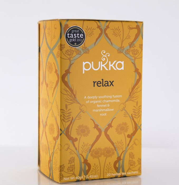 Pukka Herbs - Relax Tea Blend - 1 Box of 20 Bags - Tea - Hardin's Natural Foods
