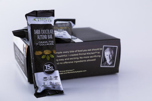 Primal Kitchen - Dark Chocolate Almond Bars - Box of 12 - Snack Bars - Hardin's Natural Foods