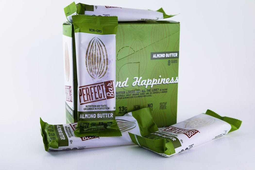 Perfect Foods - Almond Butter Perfect Bars - Box of 8 - Snack Bars - Hardin's Natural Foods