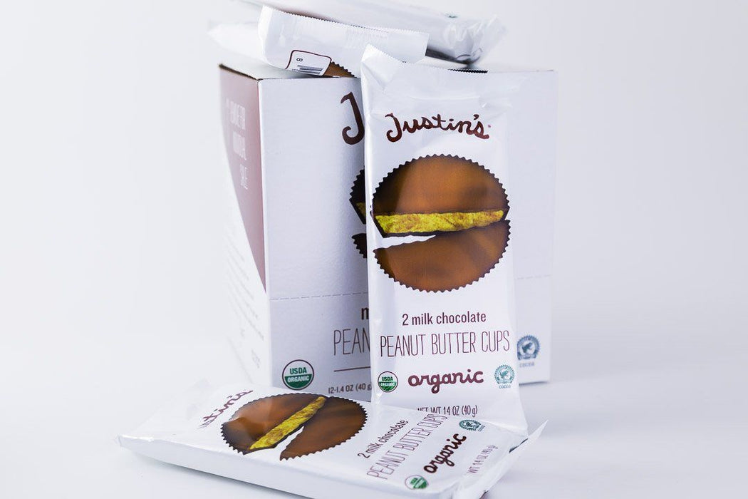 Justin's - Milk Chocolate Peanut Butter Cups - Case of 12 - Candy - Hardin's Natural Foods