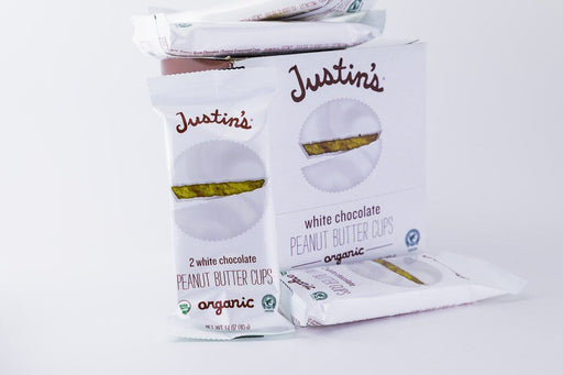Justin's - White Chocolate Peanut Butter Cups - Case of 12 - Candy - Hardin's Natural Foods