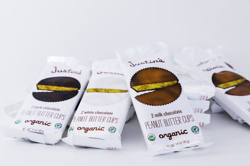 Justin's -  Peanut Butter Cup Variety Pack - 4 Each of White, Dark, and Milk Chocolate - Candy - Hardin's Natural Foods