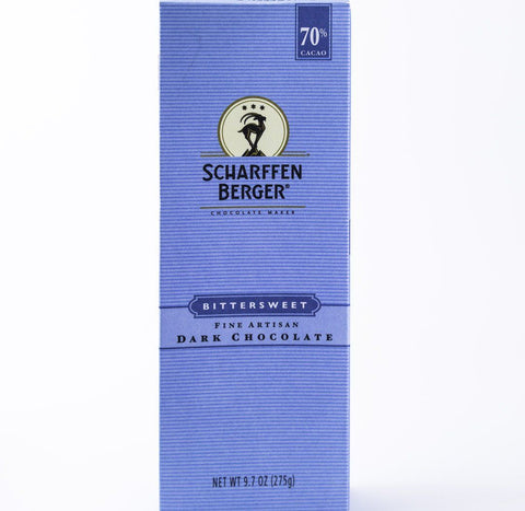 Scharffen Berger - 70% Bittersweet Dark Baking Chocolate 9.7 oz Bar