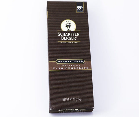 Scharffen Berger - 99% Unsweetened Dark Baking Chocolate 9.7 oz Bar