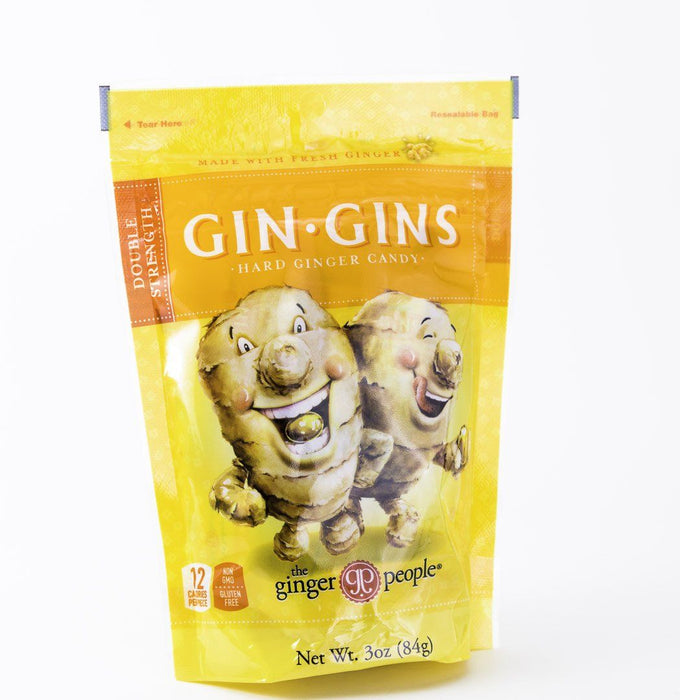 Ginger People - Double Strength Hard Candy Gin Gins - 3 oz Bag - Candy - Hardin's Natural Foods