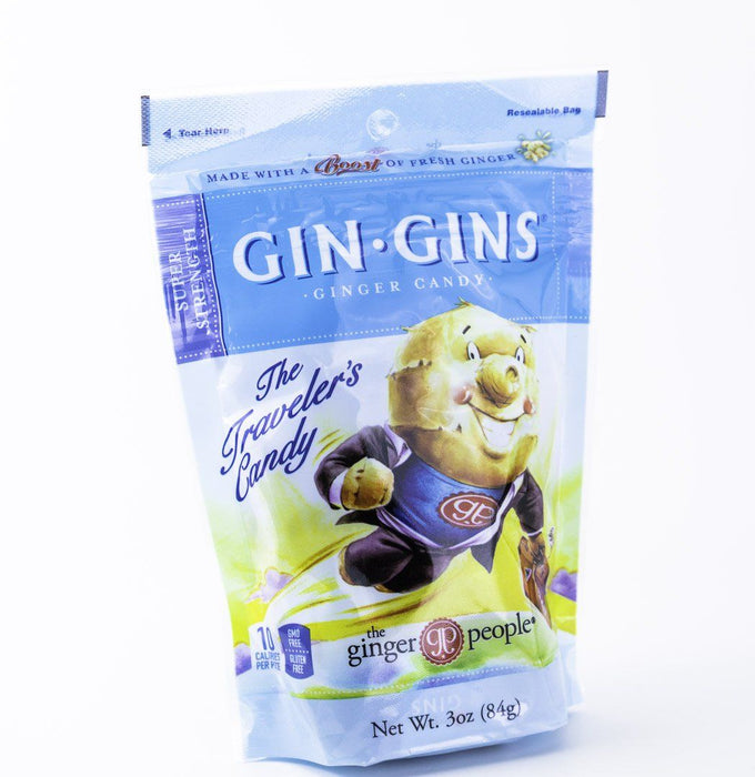 Ginger People - Super Strength Gin Gin Traveler's Candy - 3 oz Bag - Candy - Hardin's Natural Foods