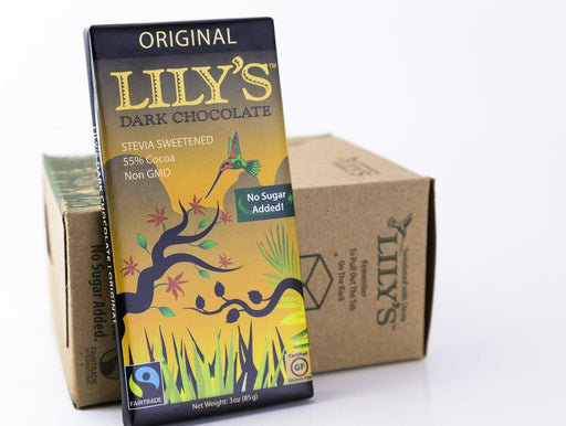 Lily's Sweets - Original Dark Chocolate Bars 3oz - Case of 12 - Chocolate - Hardin's Natural Foods