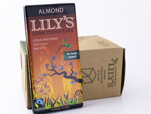 Lily's Sweets - Almond Dark Chocolate Bars 3oz - Case of 12 - Chocolate - Hardin's Natural Foods