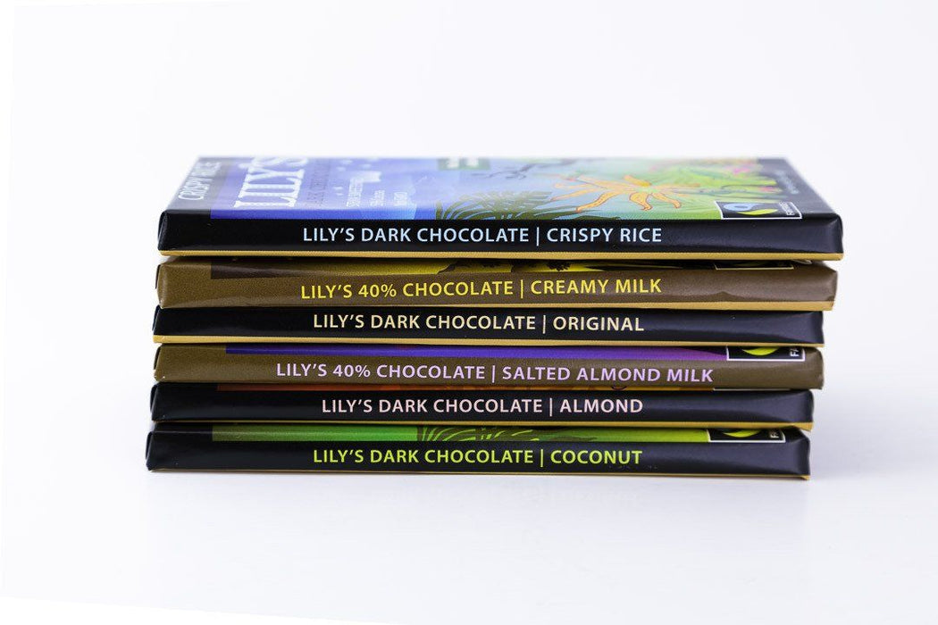 Lily's Sweets - Basic Variety Pack - 6 Bars of Chocolate - Chocolate - Hardin's Natural Foods