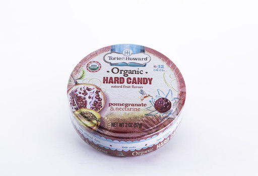 Torie & Howard - Pomegranate & Nectarine Hard Candy - 2 oz Tin - Candy - Hardin's Natural Foods