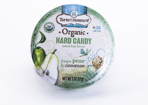 Torie & Howard - D'Anjou Pear & Cinnamon Hard Candy - 2 oz Tin - Candy - Hardin's Natural Foods