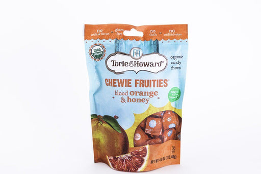 Torie & Howard - Blood Orange & Honey Chewie Candy - 4 oz Bag - Candy - Hardin's Natural Foods