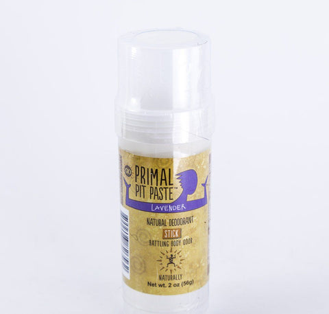 Primal Pit Paste - Lavender Natural Deodorant Stick - 2 oz