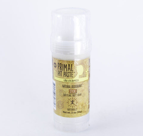 Primal Pit Paste - Unscented Natural Deodorant Stick - 2 oz