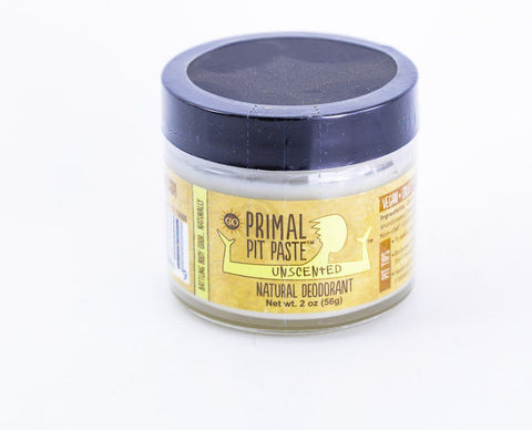 Primal Pit Paste - Unscented Natural Deodorant Jar - 2 oz