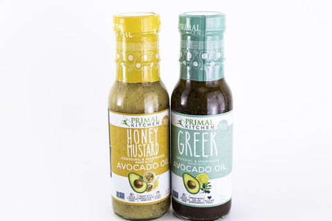 Primal Kitchen - Paleo Salad Dressing 2-Pack (Honey Mustard & Greek)  - 8 oz Bottles