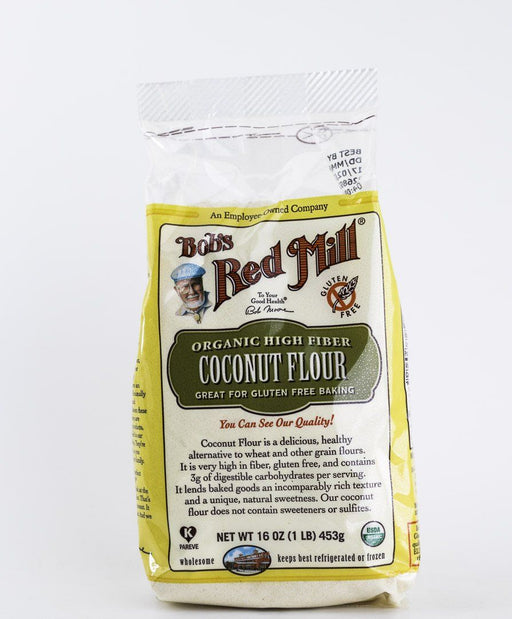 Bob's Red Mill - Organic High Fiber Coconut Flour - 1 lb Bag - Baking Supplies - Hardin's Natural Foods