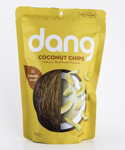 Dang Foods - Caramel Sea Salt Paleo Coconut Chips - 3 oz Bag - Grain Free