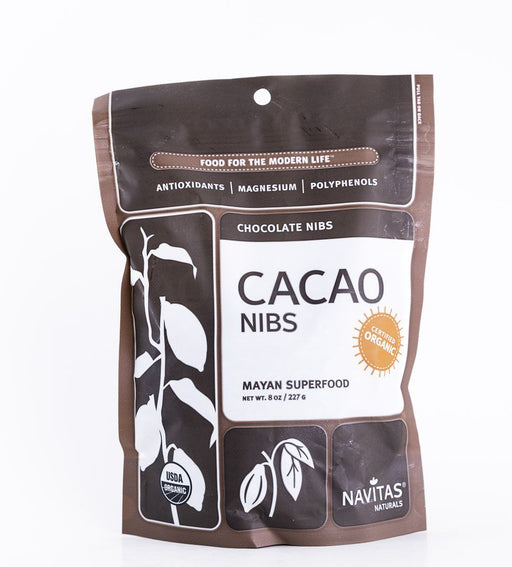 Navitas Organics - Organic Cacao Nibs - 8 oz Bag - Mayan Superfood - Baking Supplies - Hardin's Natural Foods