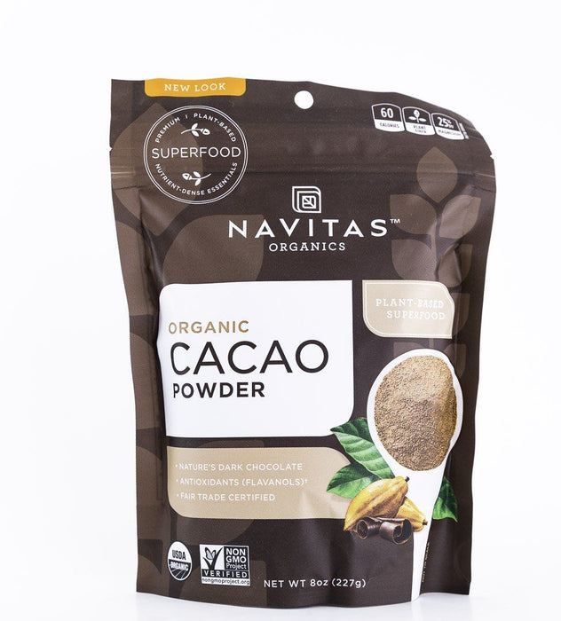 Navitas Organics - Organic Cacao Powder - 8 oz Bag - Baking Supplies - Hardin's Natural Foods
