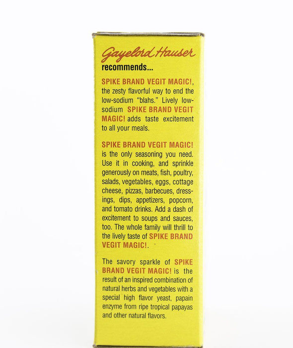 Spike - Vegit Magic - 4 oz Box - Gayelord Hauser, Modern Products - Condiments - Hardin's Natural Foods