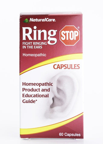 Natural Care - Ring Stop Homeopathic Hearing Formula - 60 Capsules