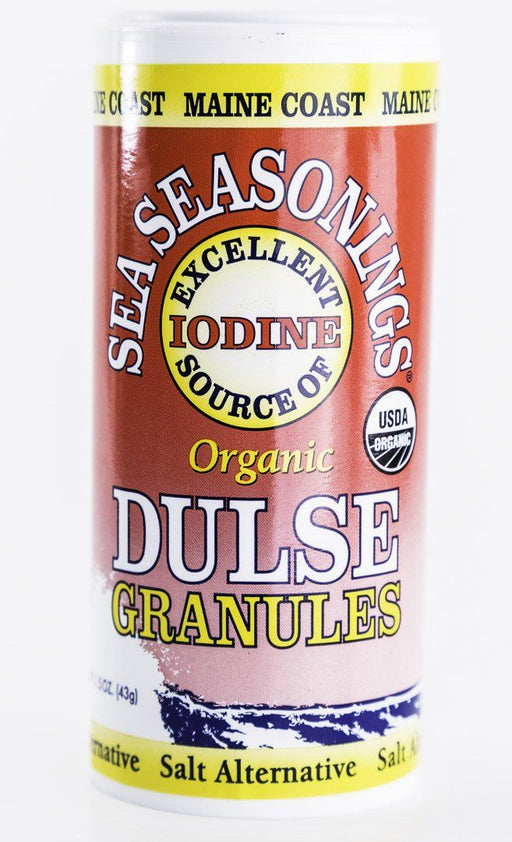 Maine Coast Sea Vegetables - Dulse Granules Sea Seasonings - 1.5 oz Shaker - Condiments - Hardin's Natural Foods